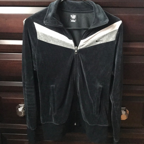 Nike Tops Velour Tracksuit Zip Up Jacket Poshmark